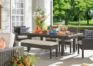 Langstone Charcoal 6 Pc. Outdoor Dinette