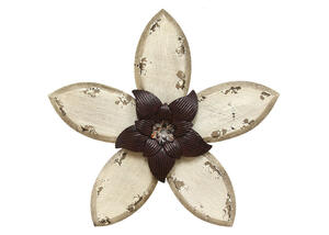 Antique Flower Wall Decor White