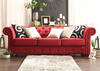 Barrington Red Linen Sofa