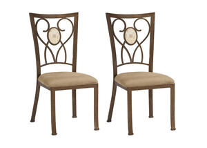 Brookside 2 Pc Oval Dining Chair Set