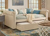Barrington Beige Linen Full Daybed w/Trundle