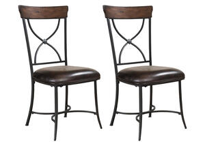 Cameron  2 Pc. Dining Chair Set