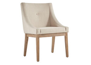 Beige Linen Arm Chair Beige