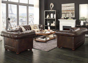Barrington Faux Leather 3 Pc. Living Room