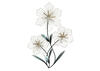 Tri Flower Wall Decor Silver