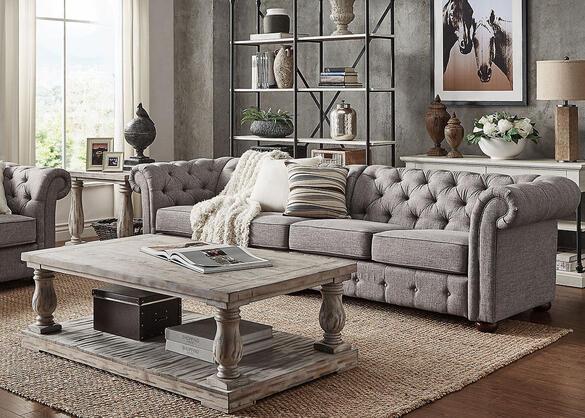 Barrington Gray Linen Extra Wide Sofa