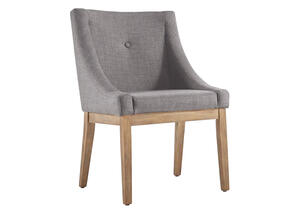 Gray Linen Arm Chair Gray