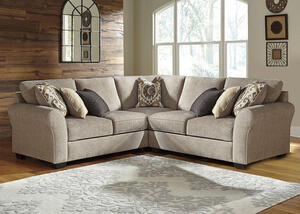 Savoy 3pc Sectional Gray