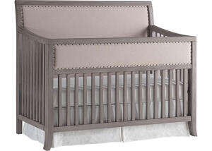 Wilshire Sleigh Style Full Panel Upholstered Convertible Crib by ED Ellen DeGeneres