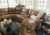 Spruce 6 Pc. Power Sectional w/Two Armless Chairs