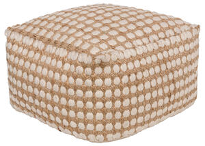 Oak Cove Pouf White
