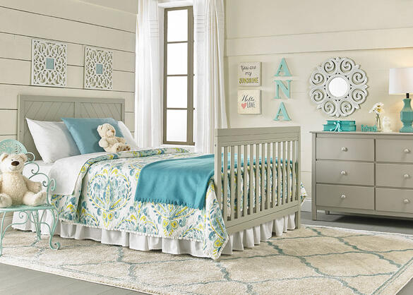Buckland Misty Gray Convertible Crib by Fisher Price