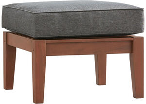 Newport Brown Ottoman w/Cushion