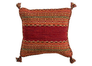 Trenza Throw Pillow Red