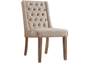Richland Beige Linen Tufted Chair