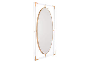 Lucite Rectangular Mirror Yellow