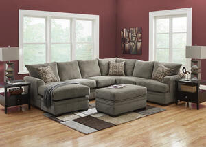 PLATINUM 2 PC RAF SECTIONAL PEWTER