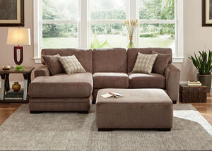 Easton Gray 2 Pc. Sectional w/Chaise (Reverse)
