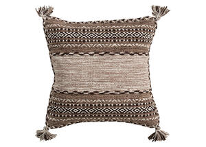 Trenza Throw Pillow Tan