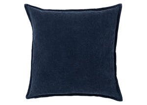 Cotton Velvet Throw Pillow Dark Navy
