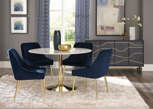 Steele Blue 5 Pc. Dining Room by Scott Living