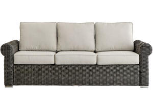 Langstone Charcoal Sofa w/Round Arms