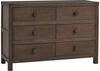 Ti Amo Wire Brush Brown Dresser