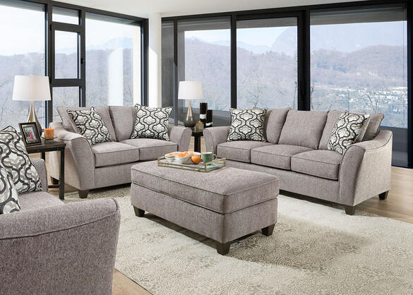 Dante Light Gray 2 Pc Living Room The Roomplace