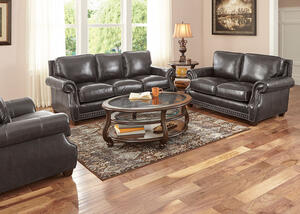 Genoa Charcoal 3 Pc. Living Room