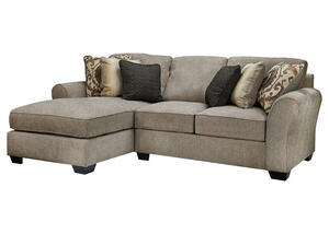 Savoy 2pc Raf Sectional Gray