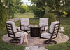 Turtle Bay 5 Pc. Fire Pit Patio Set Gray