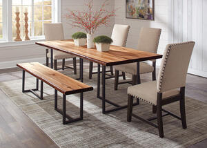 Suthers 6 Pc Dining Room W Beige Tucson Chairs By Scott Living