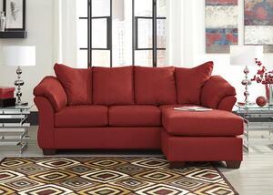 Dharma Red Sofa Chaise