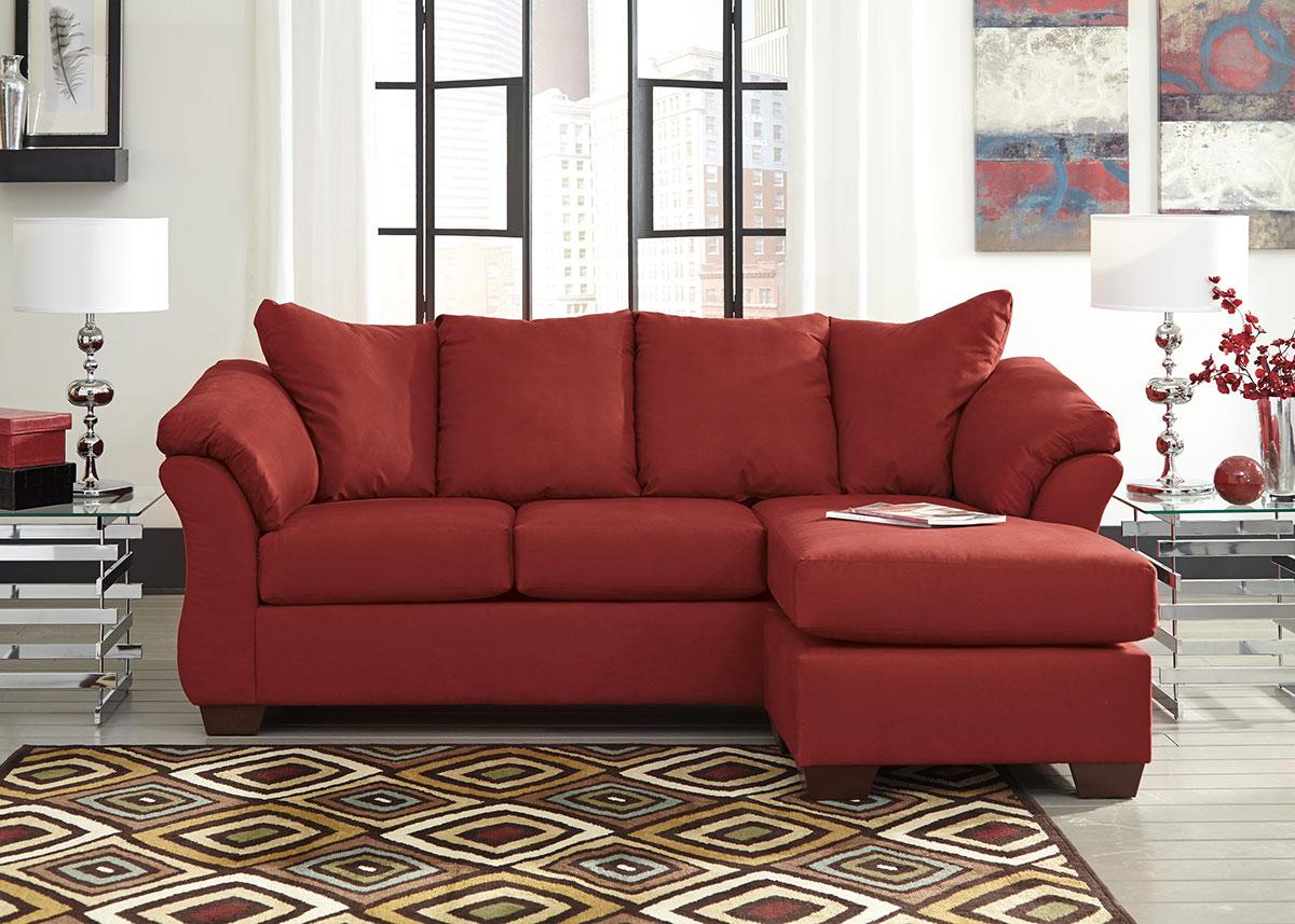Dharma Red Sofa/Chaise