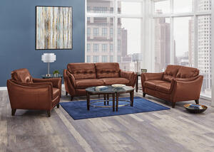 Emilia Cognac 3 Pc. Living Room