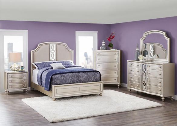 platinum 7 pc. queen bedroom - the roomplace