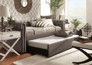 Barrington Gray Linen Daybed w/Trundle