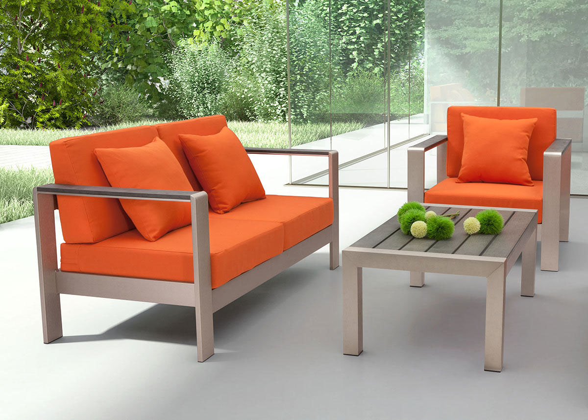 Cosmopolitan Orange 2 Pc. Patio Set