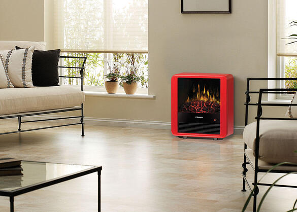 Dimplex Mini Cube Stove Red