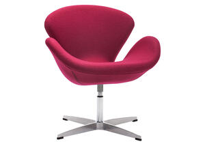 Pori Arm Chair Carnelian Red Red