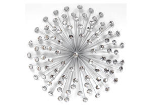 Acrylic Burst Wall Decor Silver