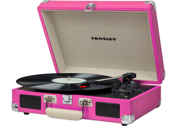 Crosley Cruiser Deluxe Pink Turntable