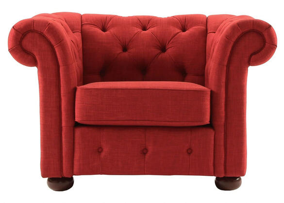 Barrington Red Linen Chair