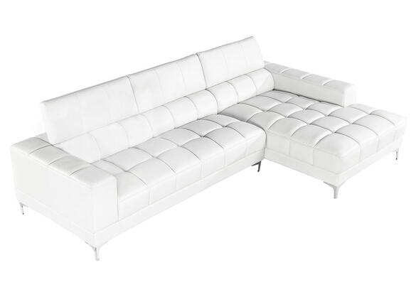 NICO 2 PC LAF SECTIONAL WHITE