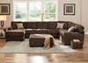 Easton Chocolate 3 Pc. Sectional w/chaise (Reverse)