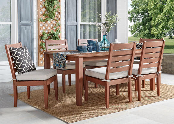 Newport Brown 7 Pc. Dinette w/Cushions