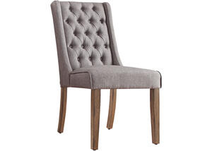 Richland Gray Linen Tufted Chair