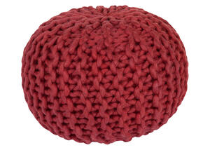 Fargo Pouf Red