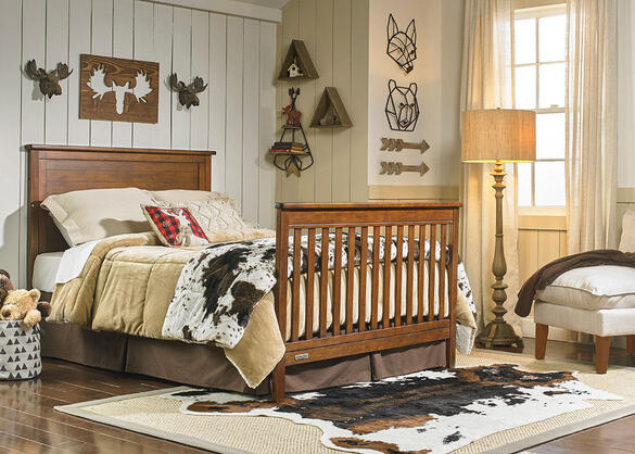 Quinn Rustic Brown Convertible Crib by Fisher Price