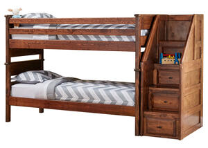 CATALINA T/T CH BUNK BED W/STARICASE CHESTNUT